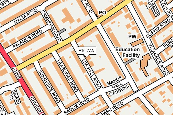 E10 7AN map - OS OpenMap – Local (Ordnance Survey)