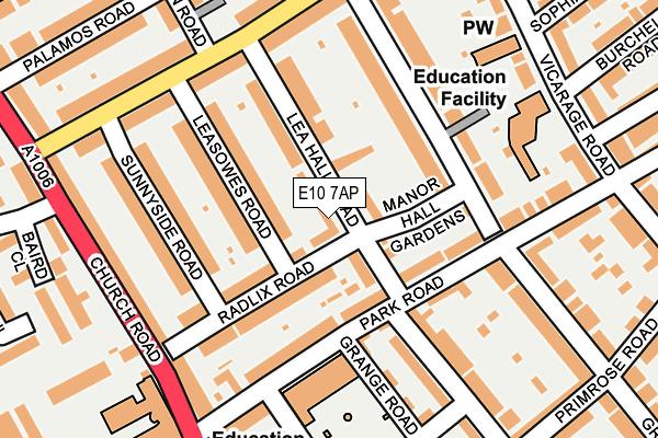 E10 7AP map - OS OpenMap – Local (Ordnance Survey)