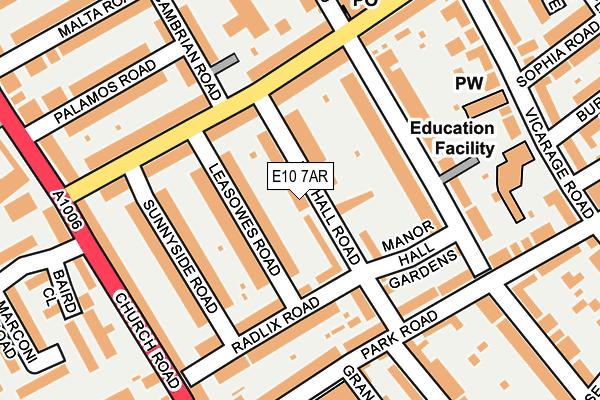 E10 7AR map - OS OpenMap – Local (Ordnance Survey)