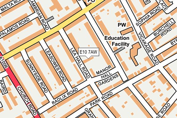 E10 7AW map - OS OpenMap – Local (Ordnance Survey)