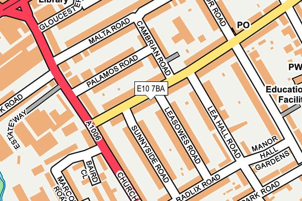 E10 7BA map - OS OpenMap – Local (Ordnance Survey)