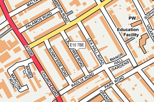 E10 7BE map - OS OpenMap – Local (Ordnance Survey)