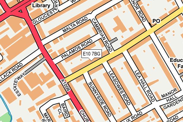 E10 7BG map - OS OpenMap – Local (Ordnance Survey)