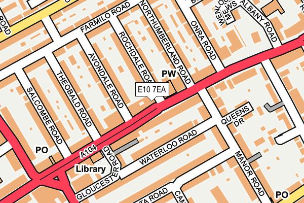 E10 7EA map - OS OpenMap – Local (Ordnance Survey)