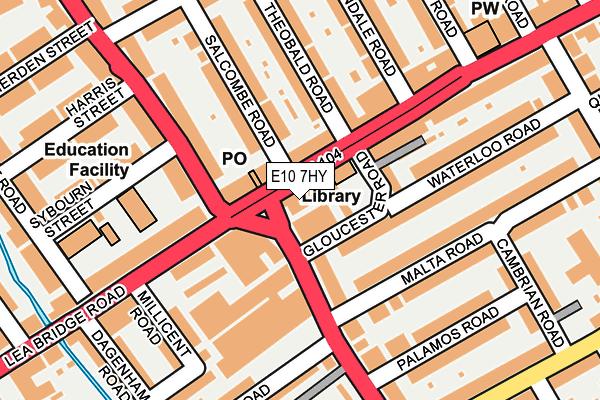 E10 7HY map - OS OpenMap – Local (Ordnance Survey)