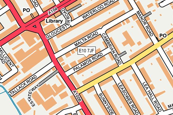 E10 7JF map - OS OpenMap – Local (Ordnance Survey)