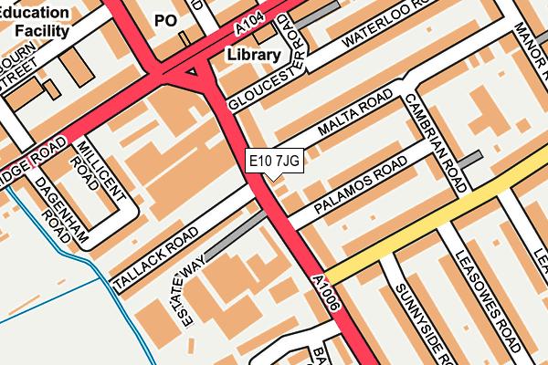 E10 7JG map - OS OpenMap – Local (Ordnance Survey)