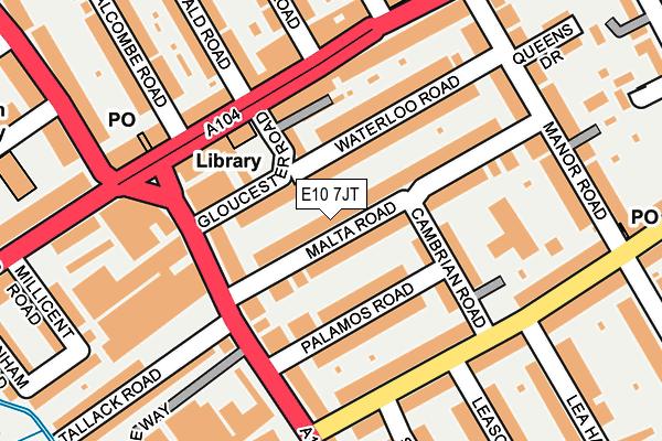 E10 7JT map - OS OpenMap – Local (Ordnance Survey)