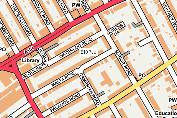 E10 7JU map - OS OpenMap – Local (Ordnance Survey)