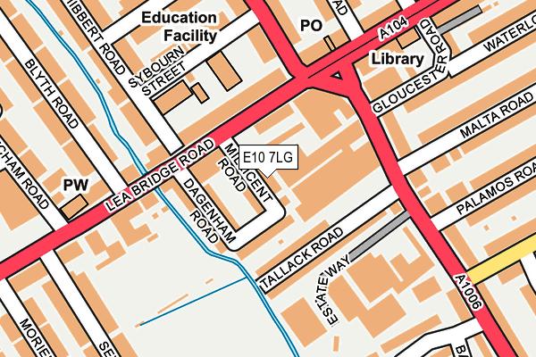 E10 7LG map - OS OpenMap – Local (Ordnance Survey)