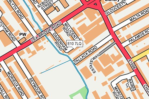 E10 7LQ map - OS OpenMap – Local (Ordnance Survey)