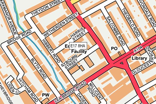 E17 8HA map - OS OpenMap – Local (Ordnance Survey)