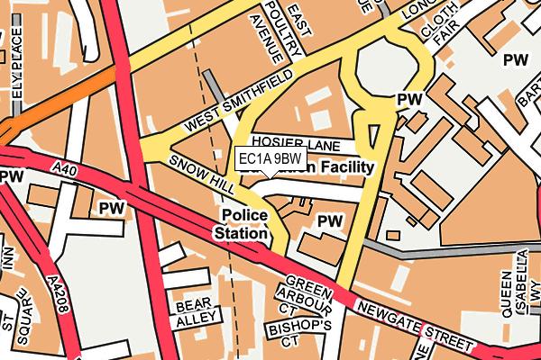 EC1A 9BW map - OS OpenMap – Local (Ordnance Survey)