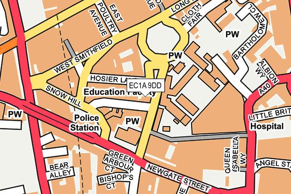 EC1A 9DD map - OS OpenMap – Local (Ordnance Survey)