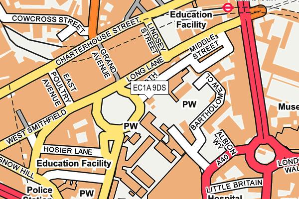 EC1A 9DS map - OS OpenMap – Local (Ordnance Survey)