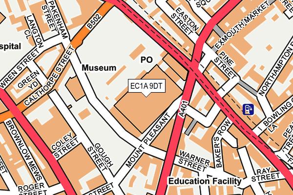EC1A 9DT map - OS OpenMap – Local (Ordnance Survey)