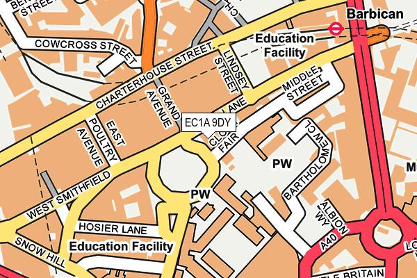 EC1A 9DY map - OS OpenMap – Local (Ordnance Survey)