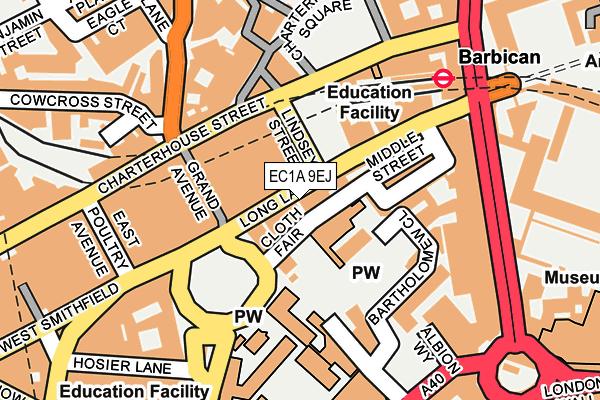 EC1A 9EJ map - OS OpenMap – Local (Ordnance Survey)