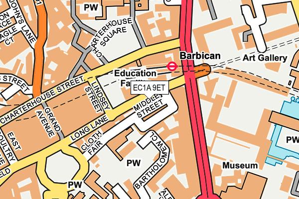 EC1A 9ET map - OS OpenMap – Local (Ordnance Survey)