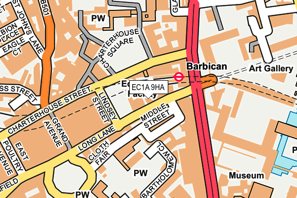 EC1A 9HA map - OS OpenMap – Local (Ordnance Survey)