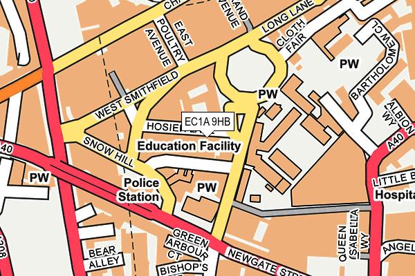 EC1A 9HB map - OS OpenMap – Local (Ordnance Survey)