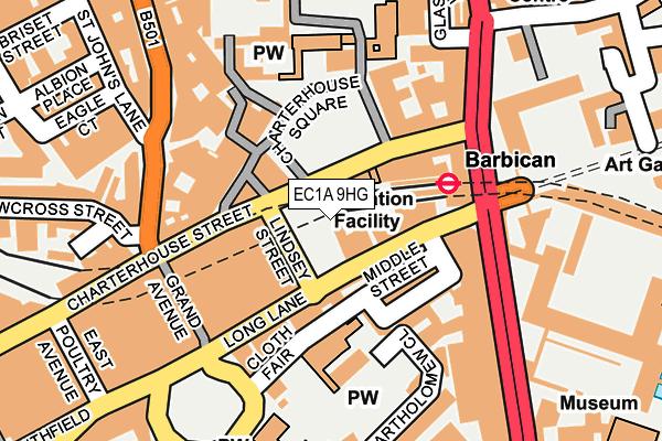 EC1A 9HG map - OS OpenMap – Local (Ordnance Survey)