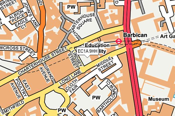 EC1A 9HH map - OS OpenMap – Local (Ordnance Survey)