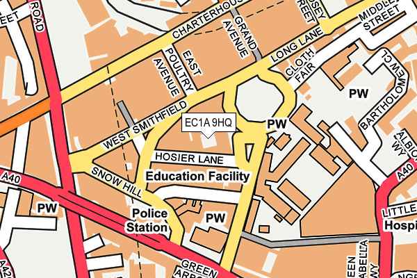 EC1A 9HQ map - OS OpenMap – Local (Ordnance Survey)