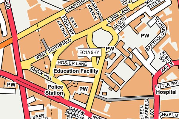 EC1A 9HY map - OS OpenMap – Local (Ordnance Survey)