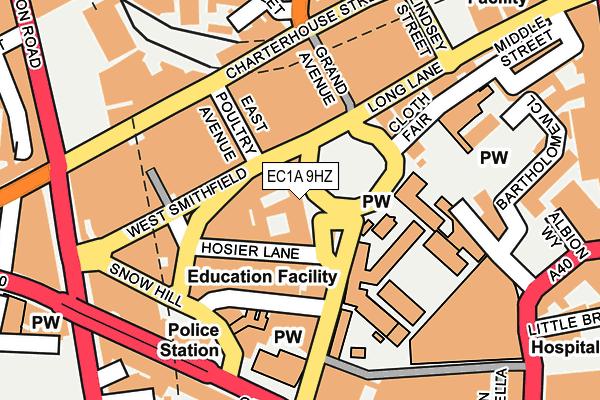 EC1A 9HZ map - OS OpenMap – Local (Ordnance Survey)