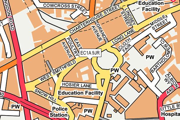 EC1A 9JR map - OS OpenMap – Local (Ordnance Survey)
