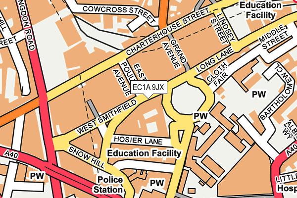 EC1A 9JX map - OS OpenMap – Local (Ordnance Survey)