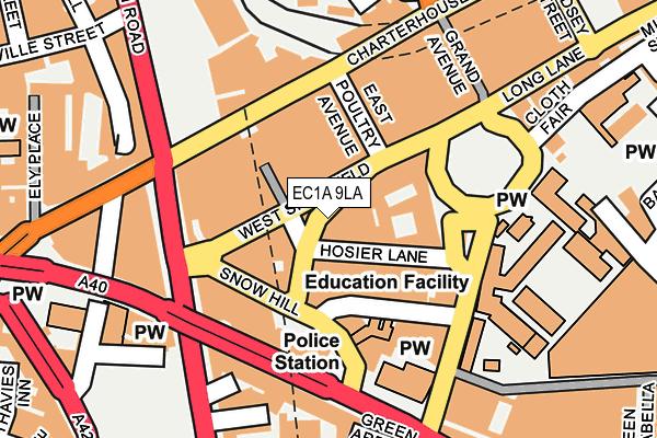 EC1A 9LA map - OS OpenMap – Local (Ordnance Survey)