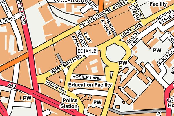 EC1A 9LB map - OS OpenMap – Local (Ordnance Survey)