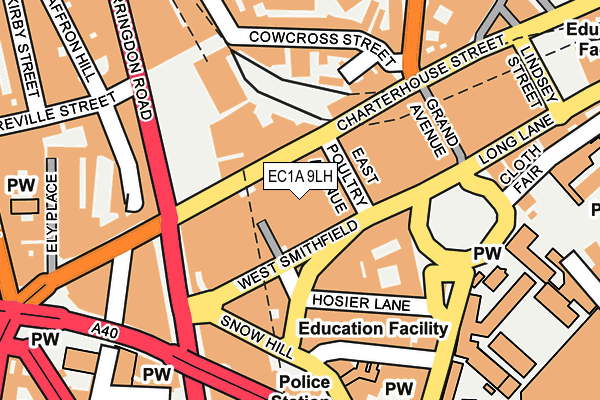 EC1A 9LH map - OS OpenMap – Local (Ordnance Survey)
