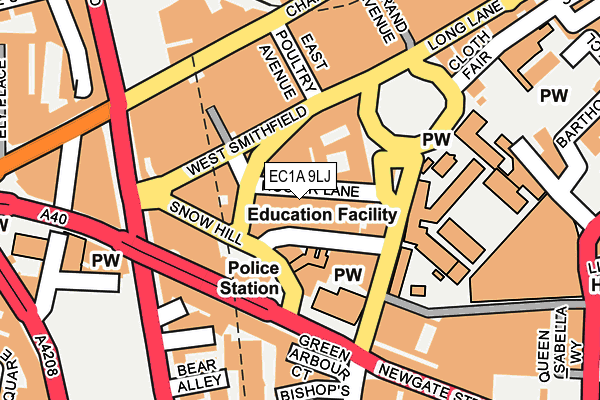 EC1A 9LJ map - OS OpenMap – Local (Ordnance Survey)