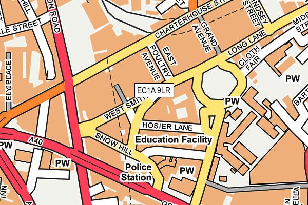 EC1A 9LR map - OS OpenMap – Local (Ordnance Survey)