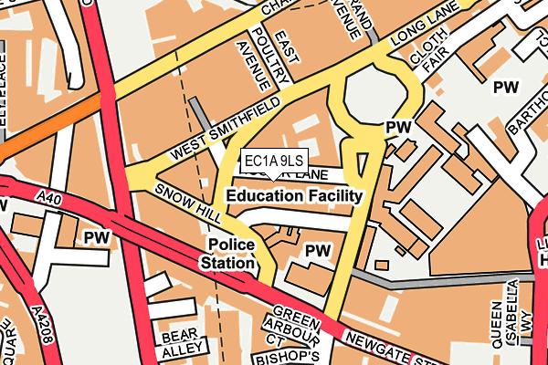 EC1A 9LS map - OS OpenMap – Local (Ordnance Survey)