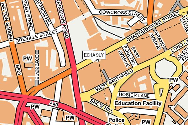 EC1A 9LY map - OS OpenMap – Local (Ordnance Survey)