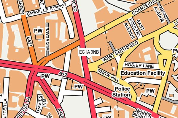 EC1A 9NB map - OS OpenMap – Local (Ordnance Survey)