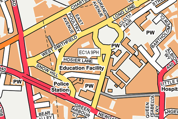 EC1A 9PH map - OS OpenMap – Local (Ordnance Survey)