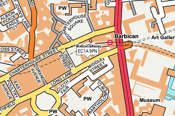 EC1A 9PN map - OS OpenMap – Local (Ordnance Survey)
