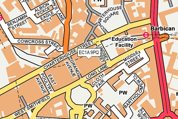 EC1A 9PQ map - OS OpenMap – Local (Ordnance Survey)