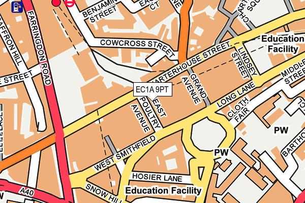 EC1A 9PT map - OS OpenMap – Local (Ordnance Survey)