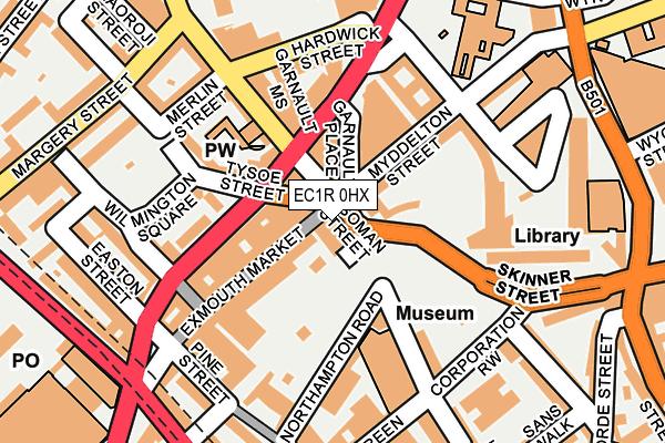 EC1R 0HX map - OS OpenMap – Local (Ordnance Survey)