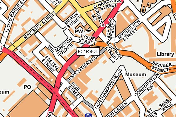 EC1R 4QL map - OS OpenMap – Local (Ordnance Survey)