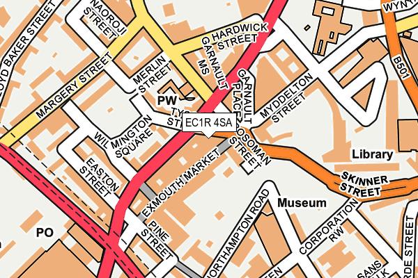 EC1R 4SA map - OS OpenMap – Local (Ordnance Survey)