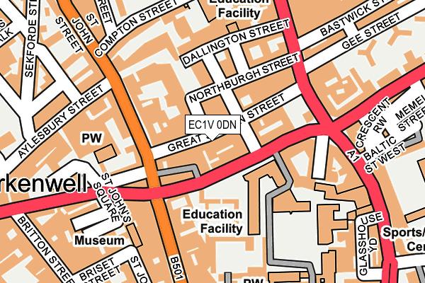EC1V 0DN map - OS OpenMap – Local (Ordnance Survey)