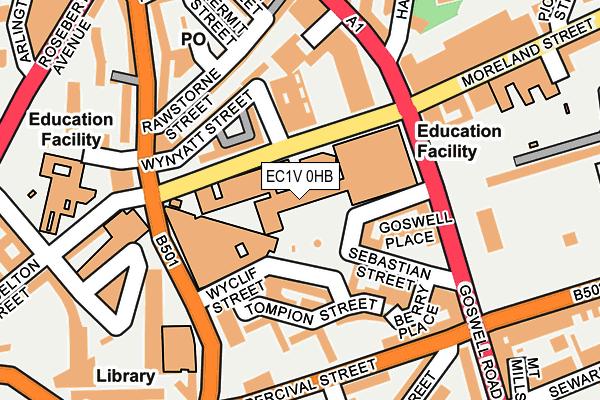EC1V 0HB map - OS OpenMap – Local (Ordnance Survey)