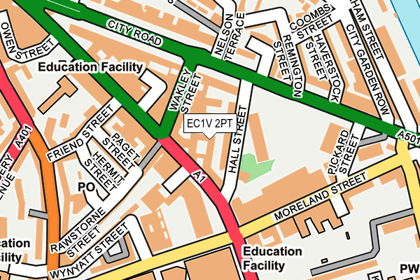 EC1V 2PT map - OS OpenMap – Local (Ordnance Survey)